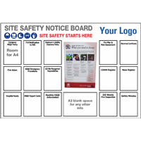 Site Safety Notice Board 1800