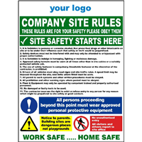 Company site rules - safety starts here