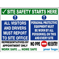 All visitors & drivers report to site office - No PPE No Entry
