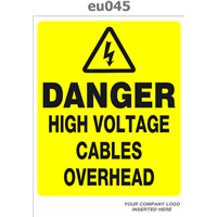 danger high voltages cables overhead
