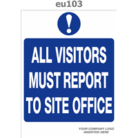 all visitors report to site office