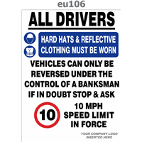 all drivers ppe reversing & speed limit