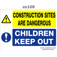 children keep out construction sites are dangerous
