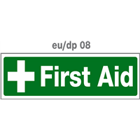 first aid door plate