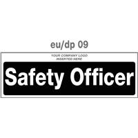 safety officer door plate