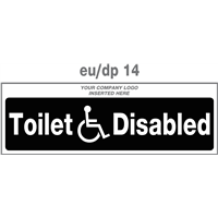 disabled toilet door plate