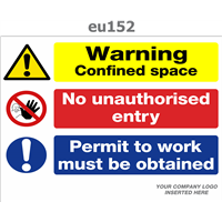 warning confined space