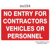 no entry for contractors