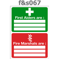first aiders are fire marshals are