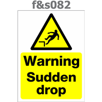 warning sudden drop