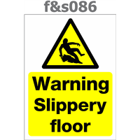 warning slippery floor