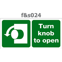 turn knob to open