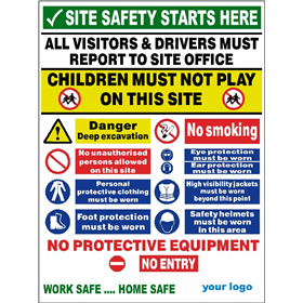 All purpose site entrance safety sign
