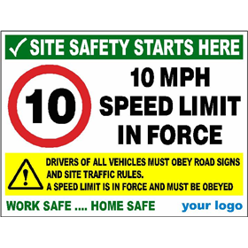 10 MPH speed limit - Obey site traffic rules
