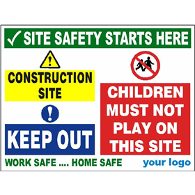 Construction site Keep out - Children must not play