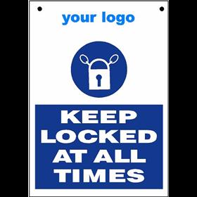 Keep Locked Eu St057 Signs From Euroscreens Uk Ltd