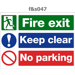 fire exit keep clear no parking